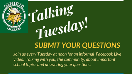 Submit your Talking Tuesday Questions
